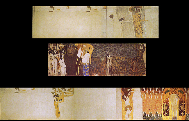 The entirety of Klimt's Beethoven Frieze