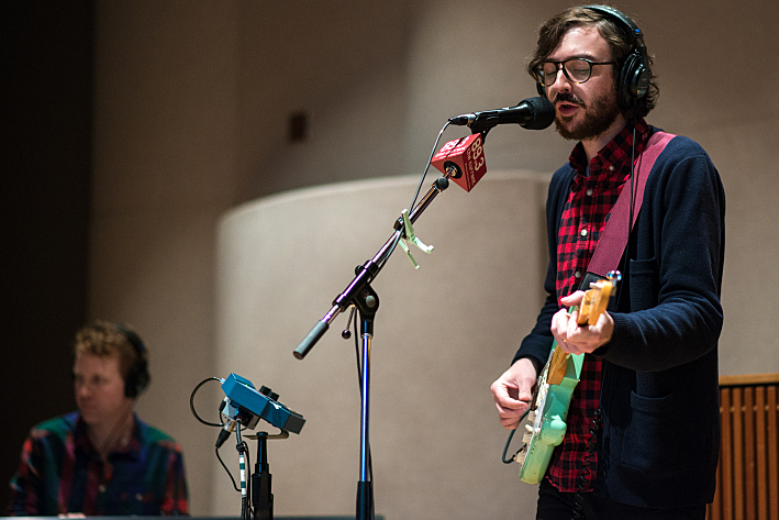 Real Estate perform in The Current's studio