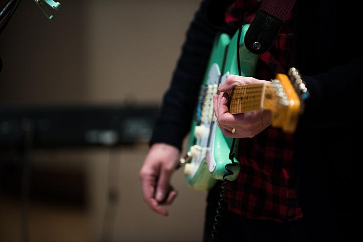 Real Estate front man Martin Courtney's sea-foam green Fender Stratocaster.