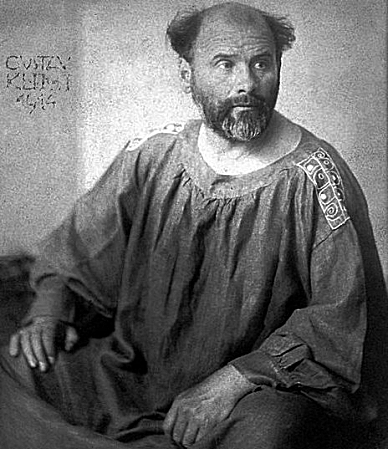 Photographic portrait of Austrian painter Gustav Klimt