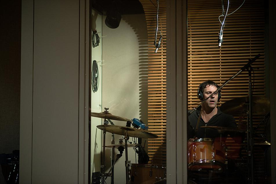 Drummer Richard Beasley with Gary Numan's band