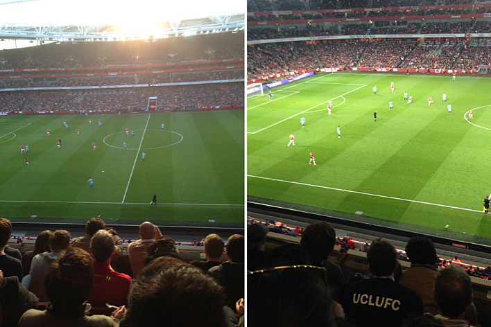 A couple of photos from the Arsenal v Manchester City match on Saturday, March 29, 2014. The teams played to a 1-1 draw.