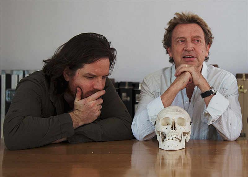 Rob Giles and Andy Summers of Circa Zero, together with Yorick from 'Hamlet'.