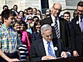 Gov. Mark Dayton signs