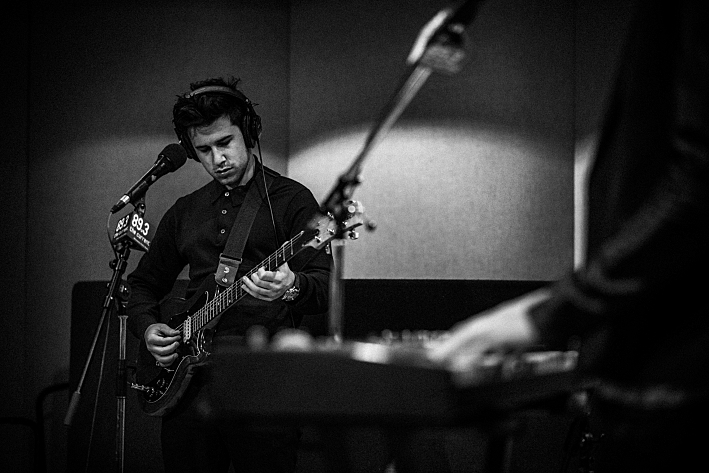 London Grammar's Dan Rothman in The Current's studio