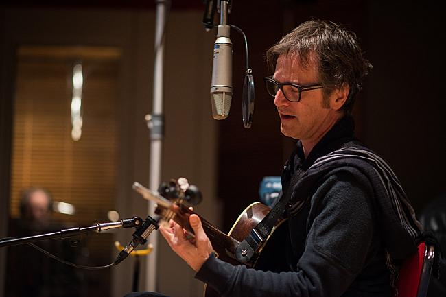 Dan Wilson performing live in The Current's studio.