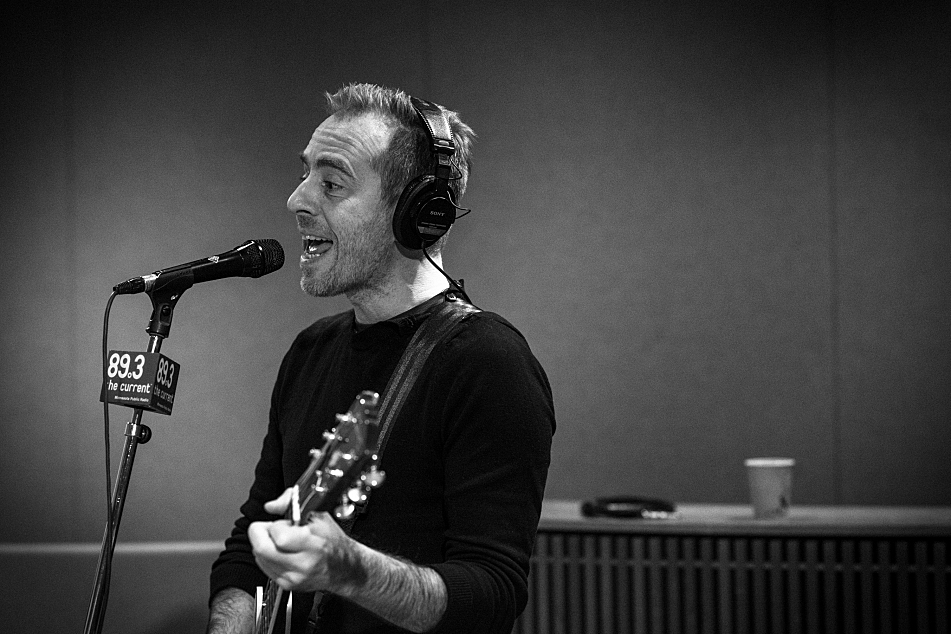 Ted Leo performing in The Current's studio.
