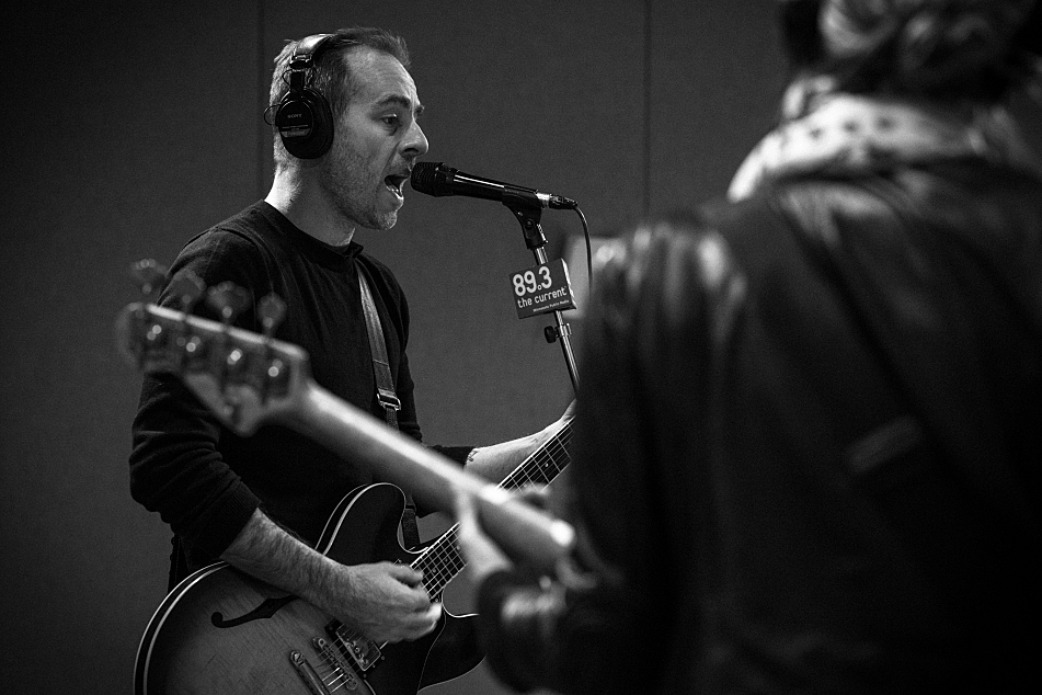 Ted Leo and Aimee Mann performing as The Both in The Current's studio.