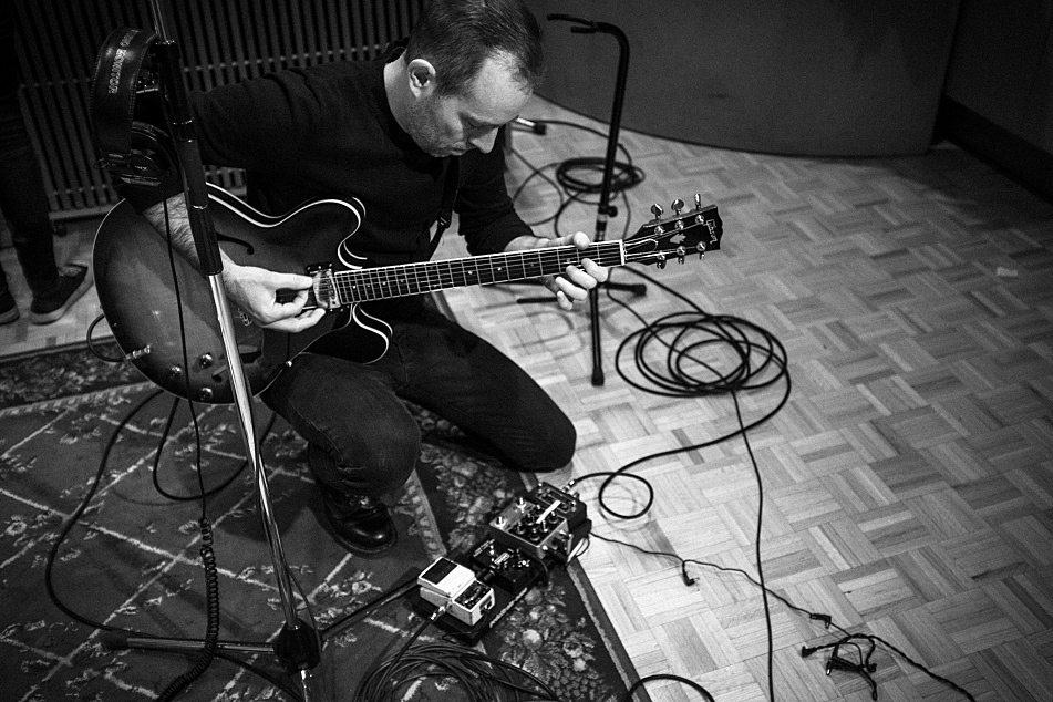 Ted Leo in The Current's studio