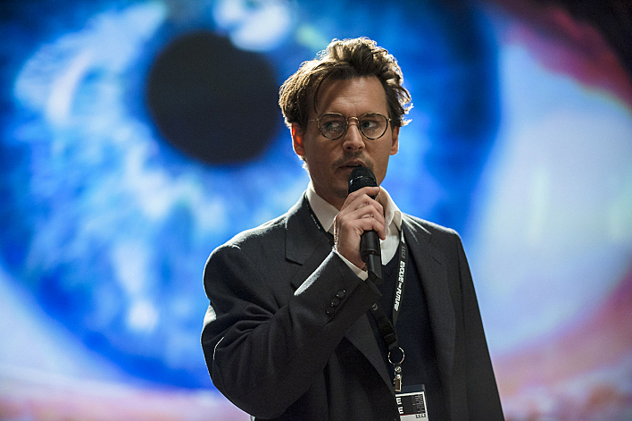 Johnny Depp stars in 'Transcendence'.
