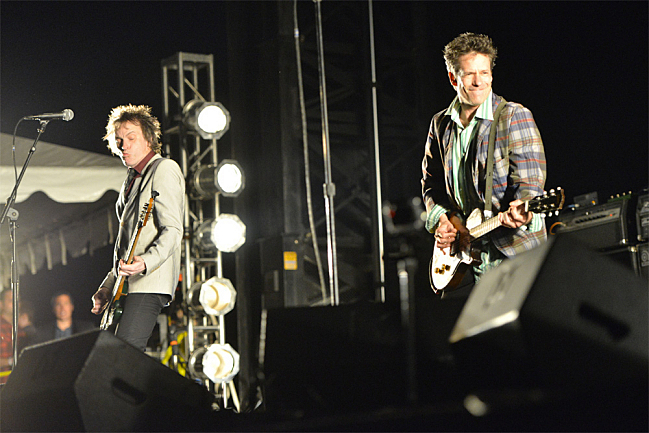 Tommy Stinson and Paul Westerberg on stage at Toronto's RiotFest in August, 2013.
