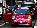 Lyft driver picks up rider in San Francisco.