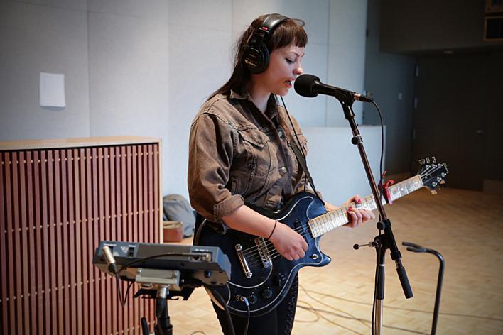 Angel Olsen performs in The Current's studio.
