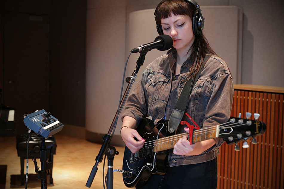 Angel Olsen performs in The Current studio.
