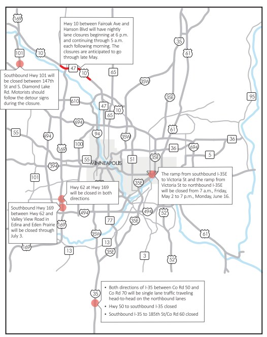 Crosstown Other Main Roads To Close This Weekend