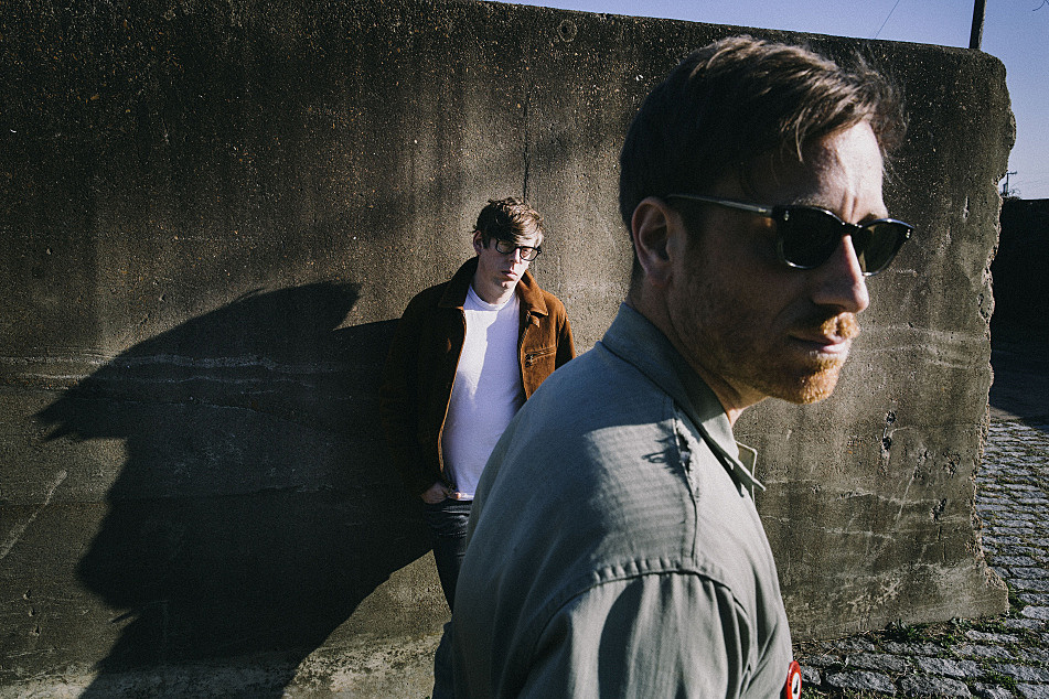 Dan Auerbach (foreground) and Patrick Carney comprise the Nashville-based rock duo, The Black Keys.