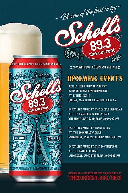 Be among the first to try Schell's The Current beer.