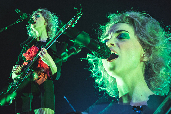 St. Vincent performing live at the State Theater. April 3, 2014