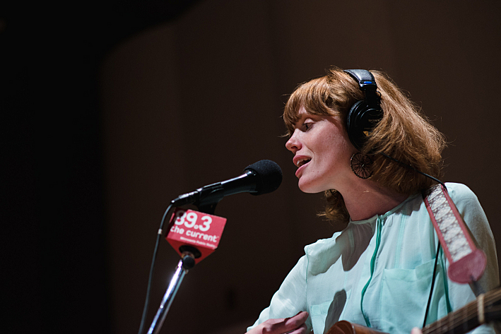 Haley Bonar performs in The Current studio.