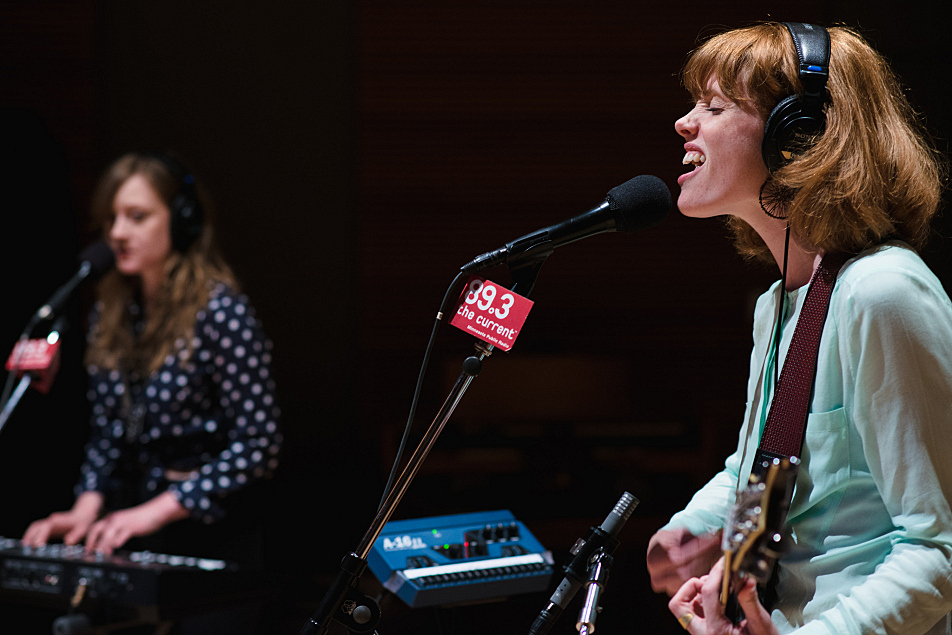 Haley Bonar performs in The Current studio, along with keyboardist Kate Murray.