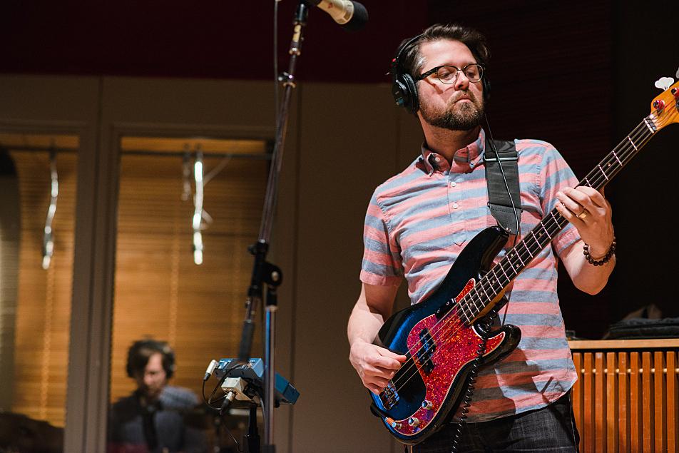 Jeremy Hanson (drums) and Rob Skoro (bass) comprise Haley Bonar's rhythm section.