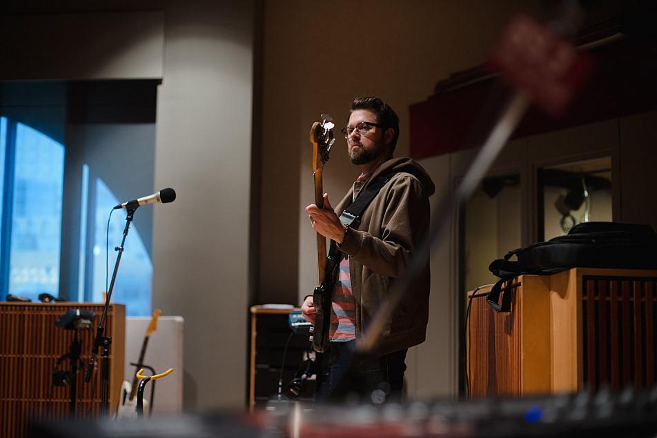 Rob Skoro plays bass with Haley Bonar