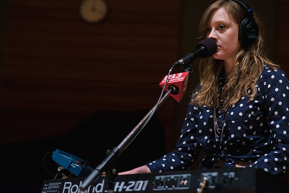 Kate Murray plays keyboards with Haley Bonar.