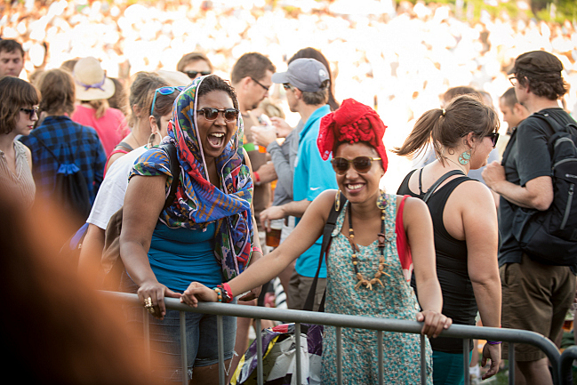 Lizzo and Sophia Eris at Rock the Garden 2012.