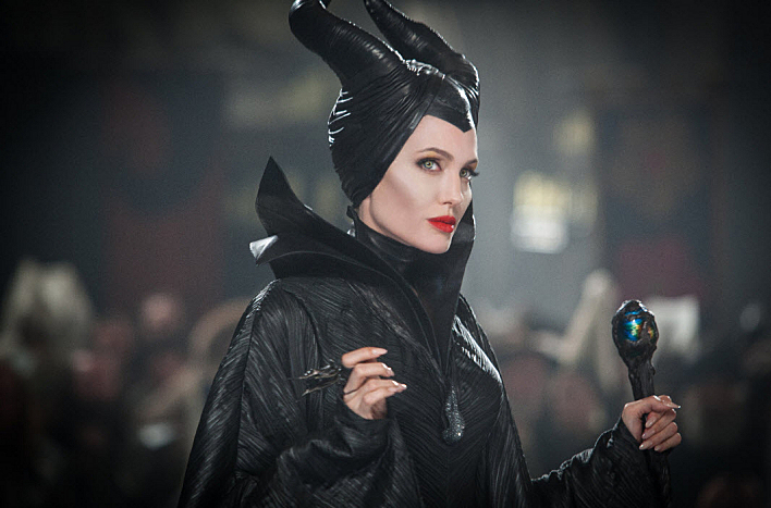 Production still from 'Maleficent' (2014) starring Angelina Jolie