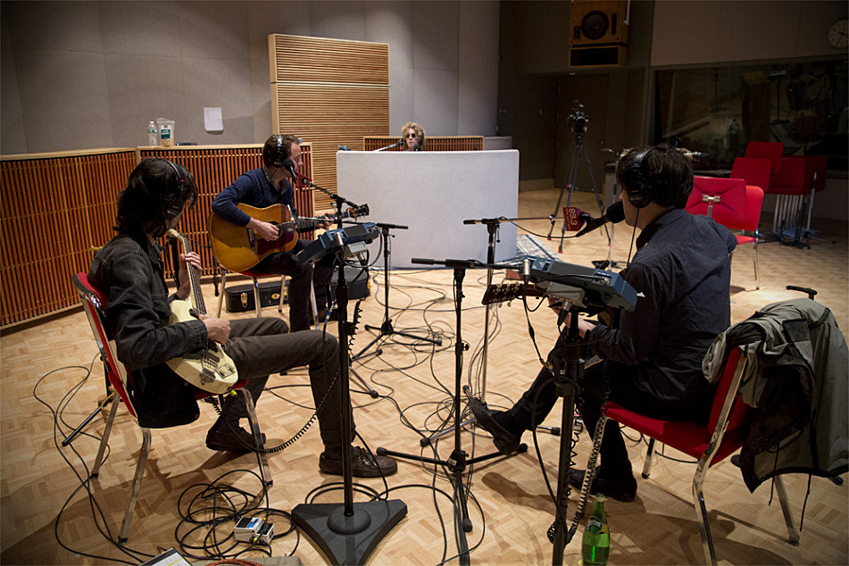 Conor Oberst and Dawes perform in The Current studio