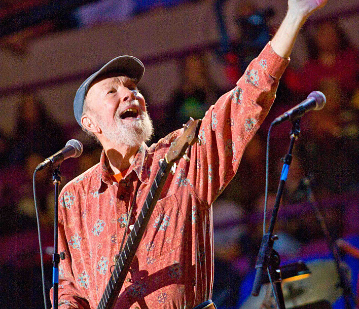 Pete Seeger's 90th birthday party at Madison Square Garden.