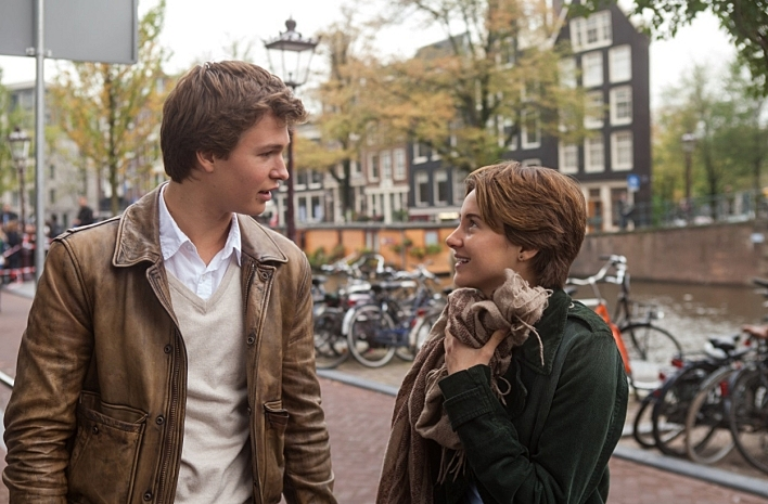 Ansel Elgort and Shailene Woodley in 'The Fault in Our Stars'