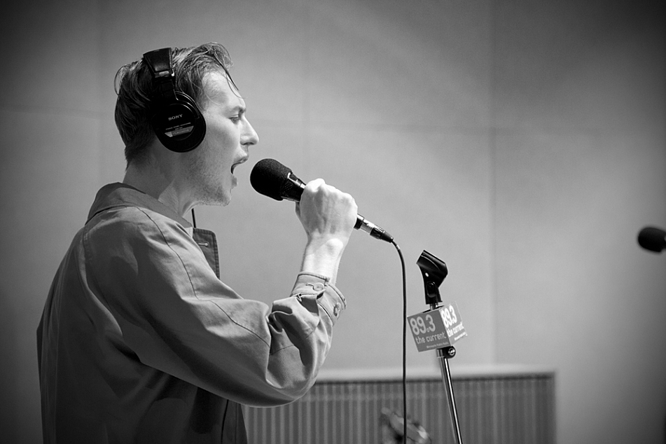George Mitchell of Eagulls in The Current's studio.