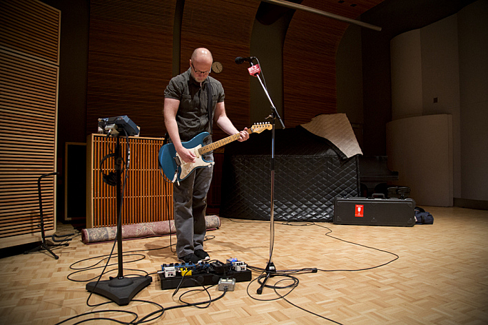 Bob Mould performs in The Current studio.