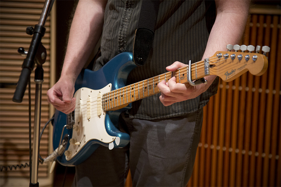 Bob Mould found his Lake Placid-blue Fender Stratocaster in a shop in Forest Lake, Minn., in 1988.