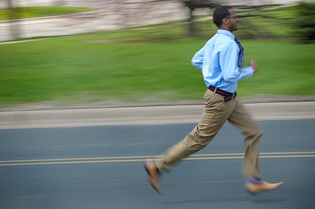 Mohamed runs