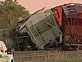 Sixteen empty BNSF rail cars derailed on Friday