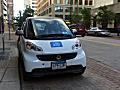 A Car2Go sits outside St. Paul City Hall