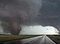 Two tornadoes near Pilger, Nebraska