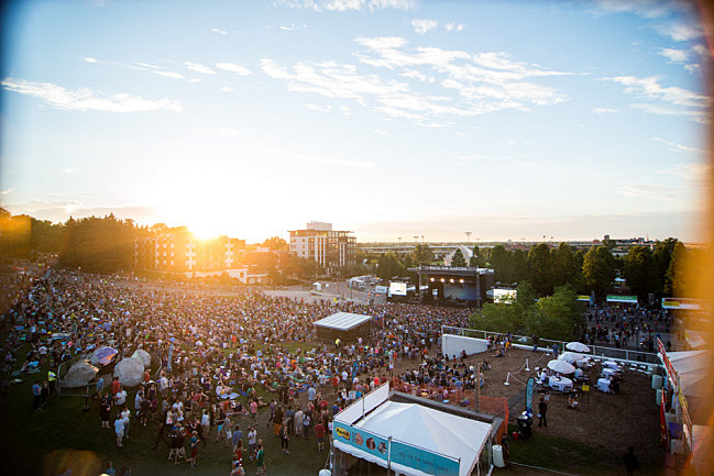 Sunset, Day 2 of Rock the Garden, 2014