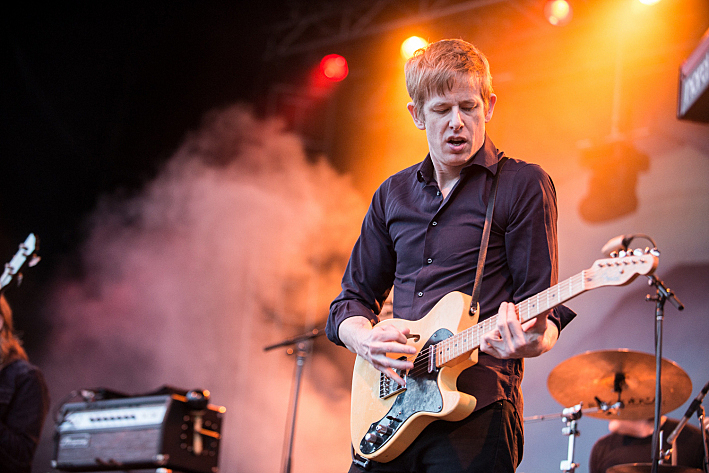 Spoon performing live at Rock the Garden 2014.