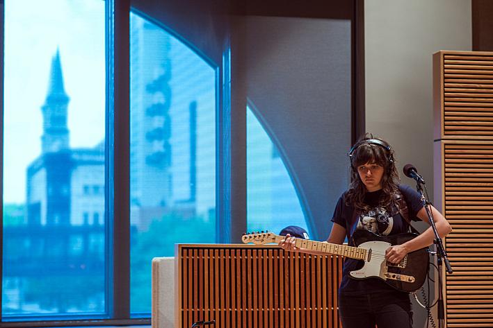 Courtney Barnett in The Current studio.