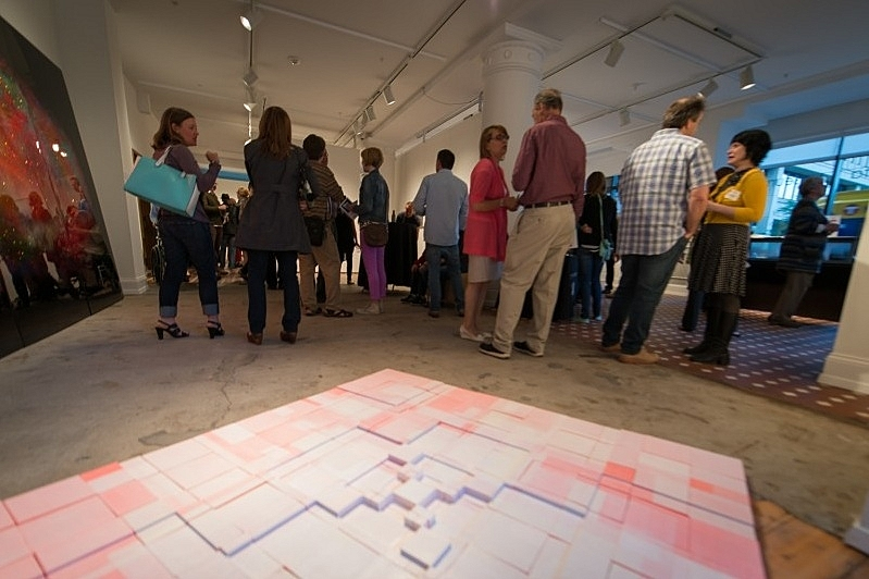 2014 Minnesota Biennial opening reception at the Minnesota Museum of American Art Project Space.