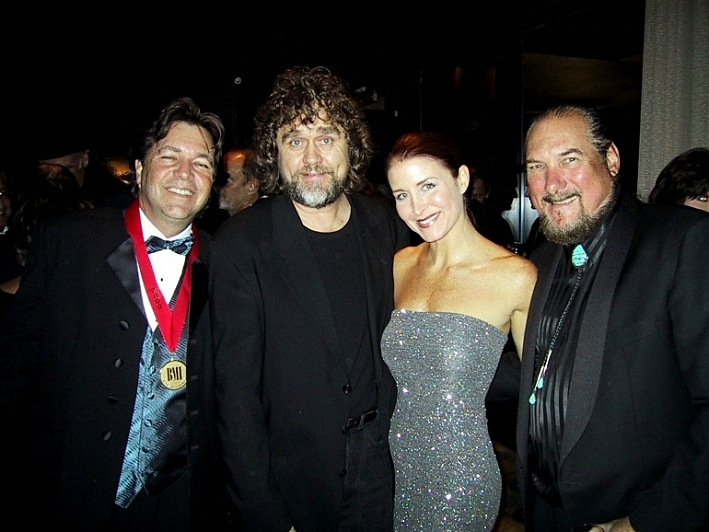 Dennis Morgan (second from left) at the 2000 BMI Awards. At far right, guitarist Steve Cropper.