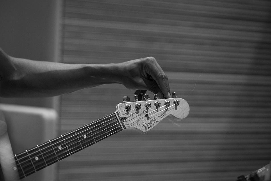 Benjamin Booker tunes up in The Current's studio