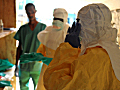 Ebola health specialists in Guinea