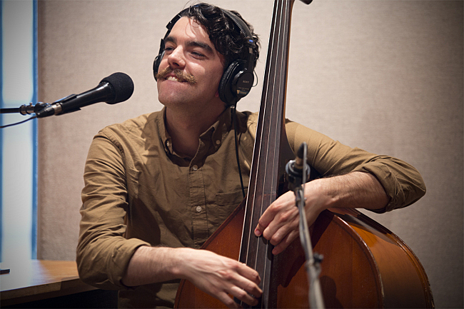 Benjamin Kelly performing live in The Current studios with John Mark Nelson.