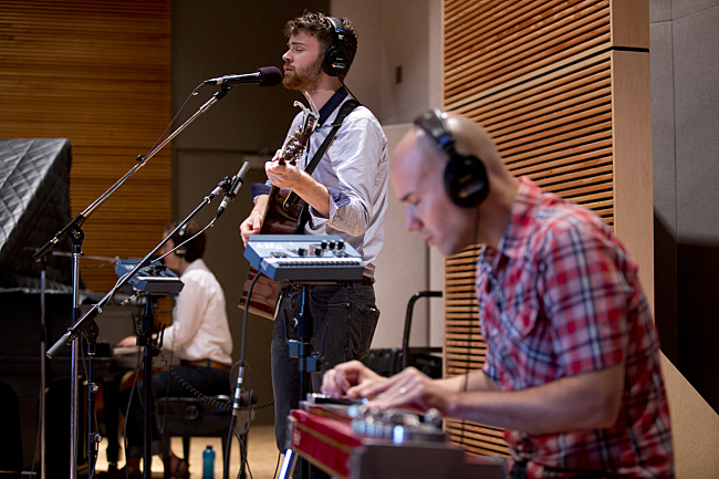 Kara Laudon, John Mark Nelson and Aaron Fabbrini performing live in The Current studio.