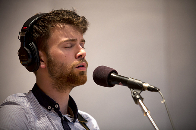 John Mark Nelson performing live in The Current studio.