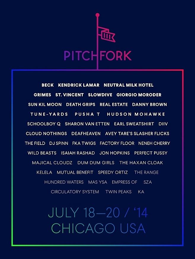 2014 Pitchfork Festival lineup